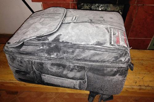 凍りついたバッグ