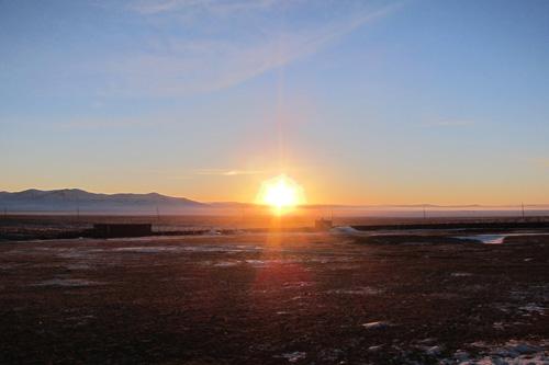 モンゴルの夕日