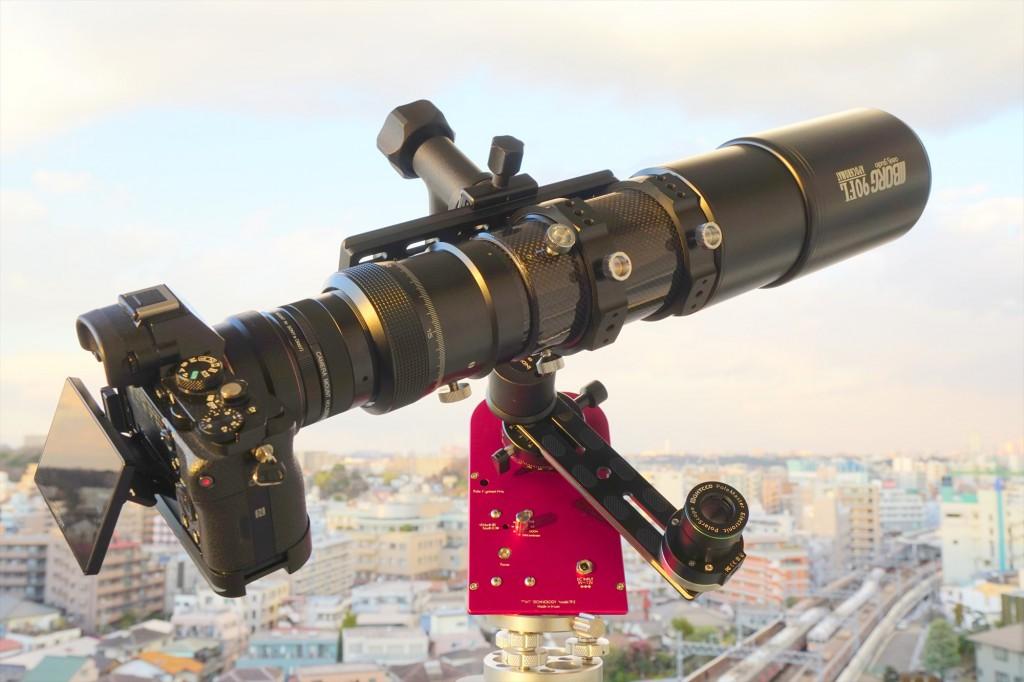BORG 90FL+レデューサー (360mm F4)